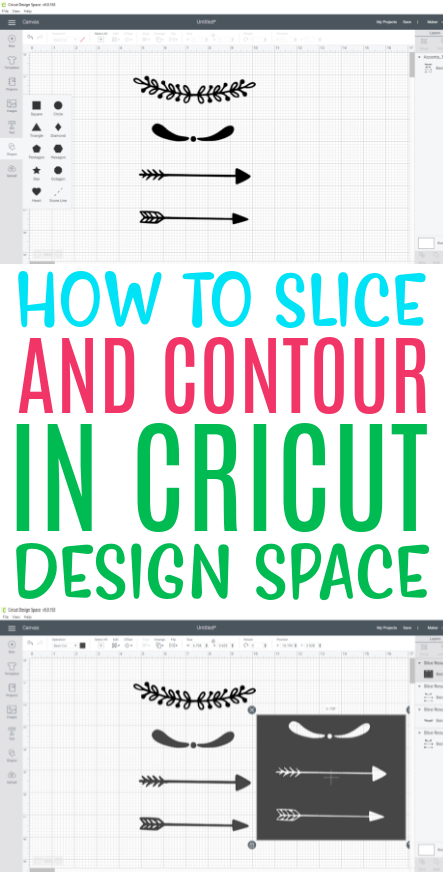 How To Slice And Contour In Cricut Design Space