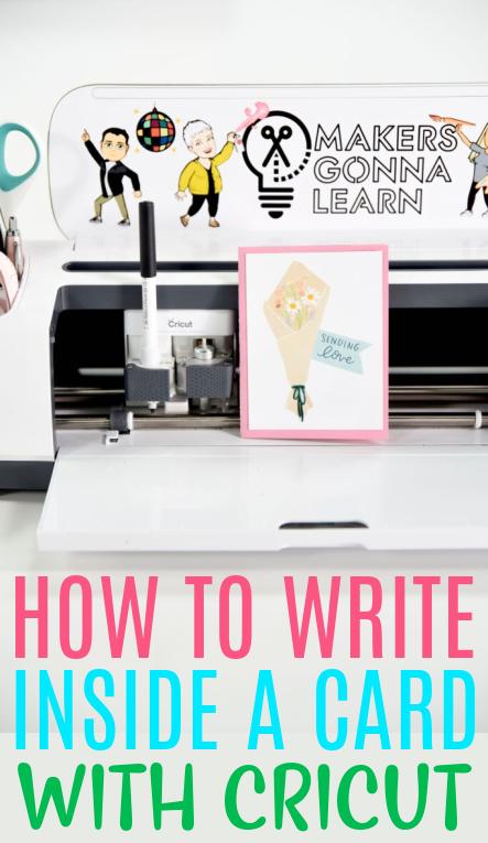 How To Write Inside A Card With Cricut 1