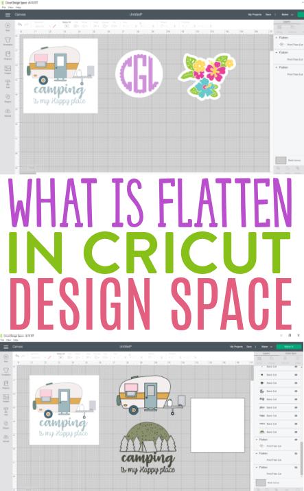 What Is Flatten In Cricut Design Space 1