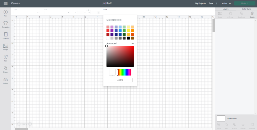 You can go to advanced on the color palette to have even more selection