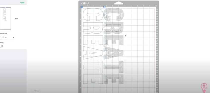 once attached all layers of the font and insets click Make It to draw the text