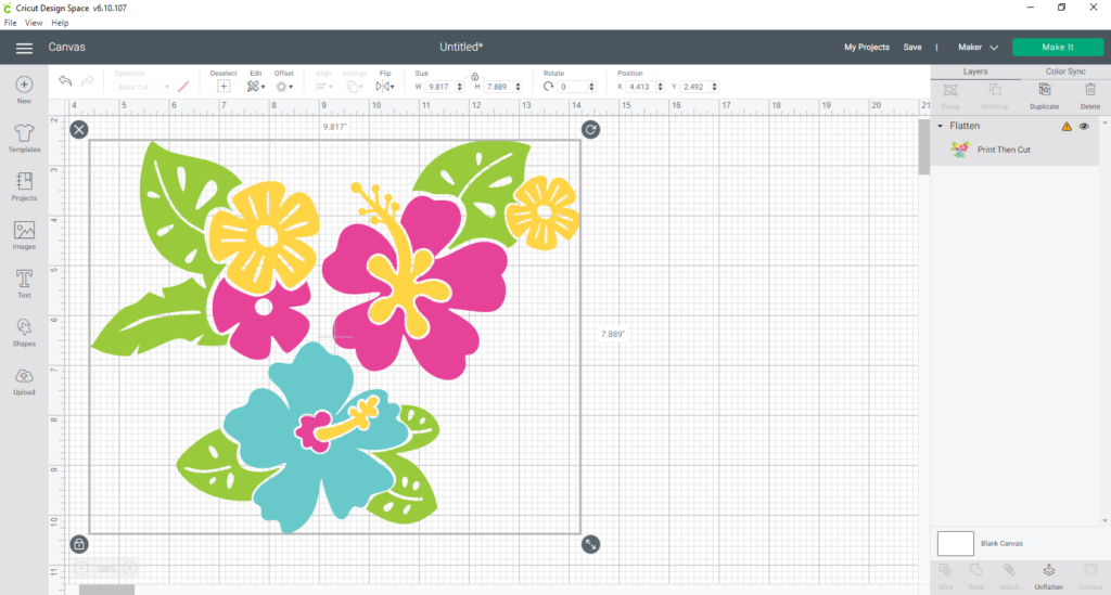 Using Flatten to make multi-layered design into a single-layered one