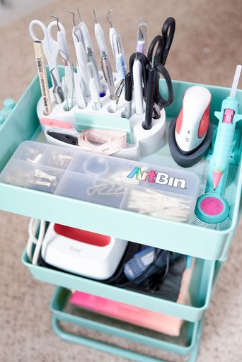 Organized Craft Cart