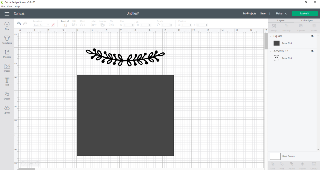 cover the parts of the file you don't need with the rectangle