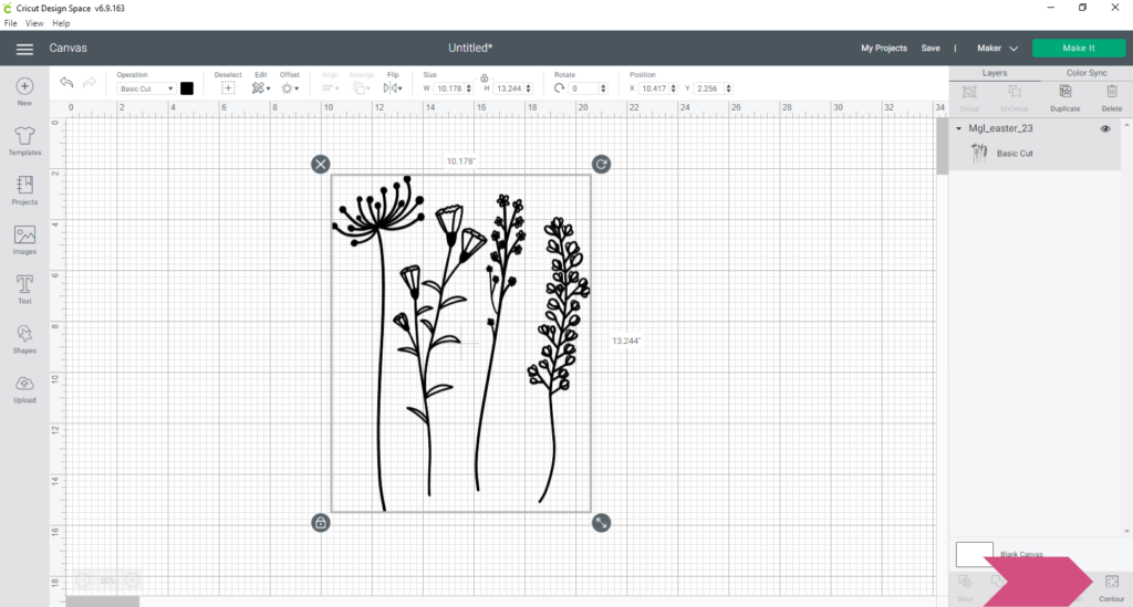 Select Your Image And Choose Contour At The Bottom Of The Layers Panel