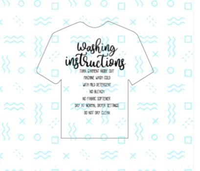 Shirt Washing Instructions