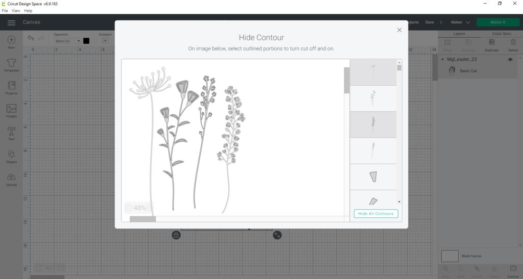 Using Contour To Delete Parts Of Designs In Cricut Design Space