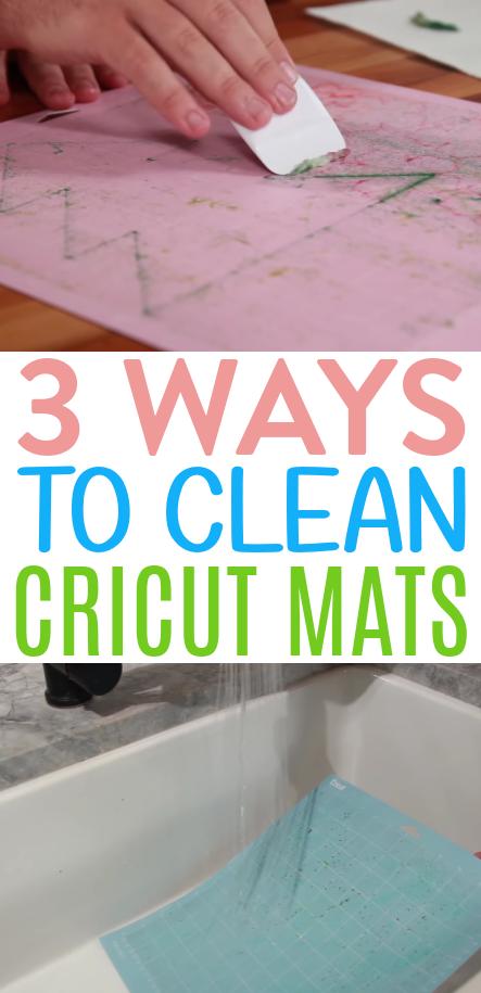 3 Ways To Clean Cricut Mats