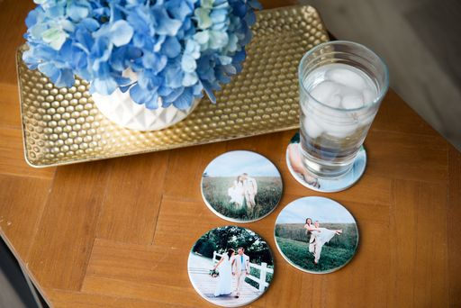 coasters made with sublimation