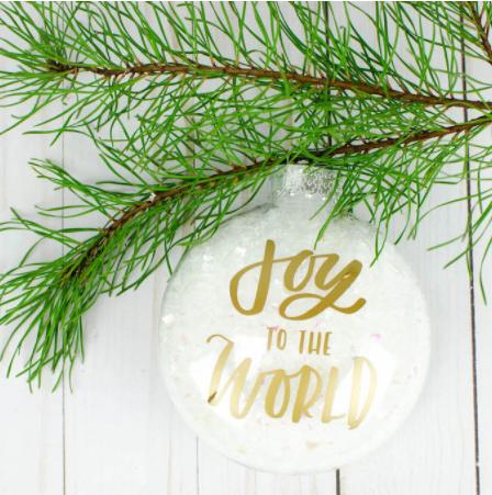 Easy Vinyl Christmas Ornaments