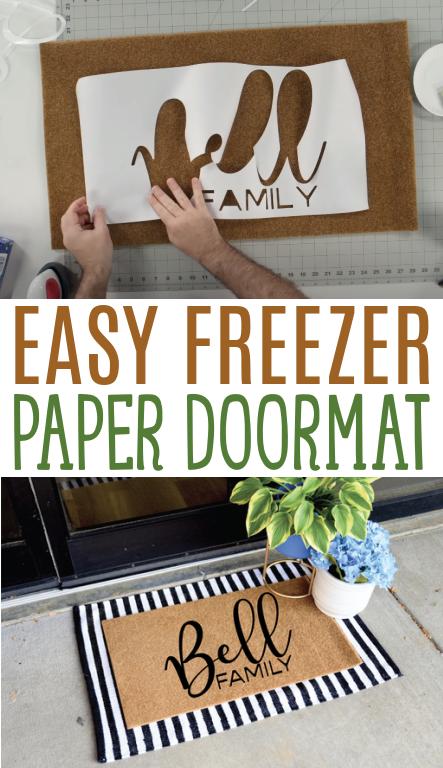 Easy Freezer Paper Doormat 2