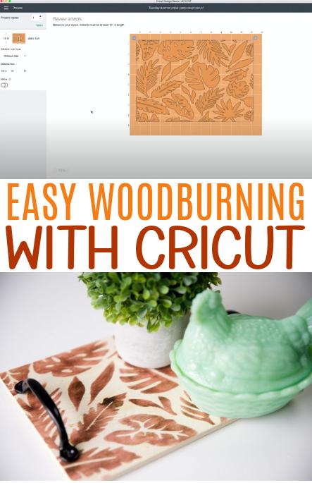 Easy Woodburning With Cricut 1