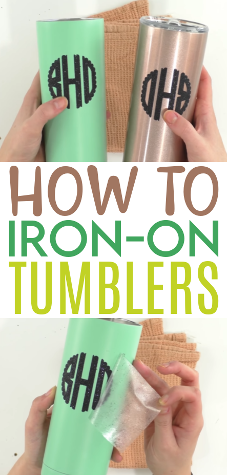 How To Iron On Tumblers 1