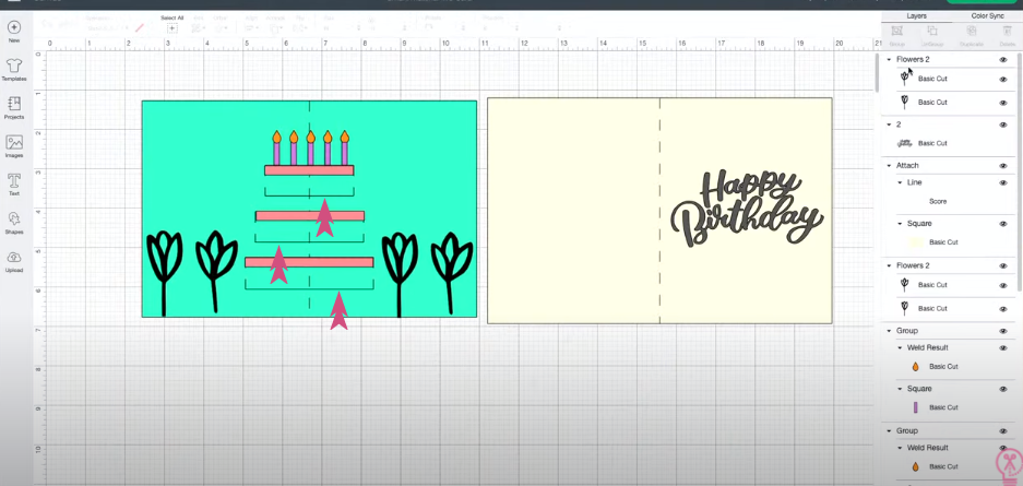Adding Cut Lines To Greeting Card Design