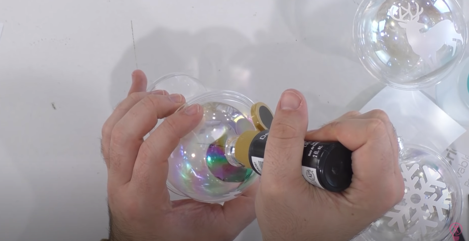 Adding Paint To Inside Of Ornament Ball