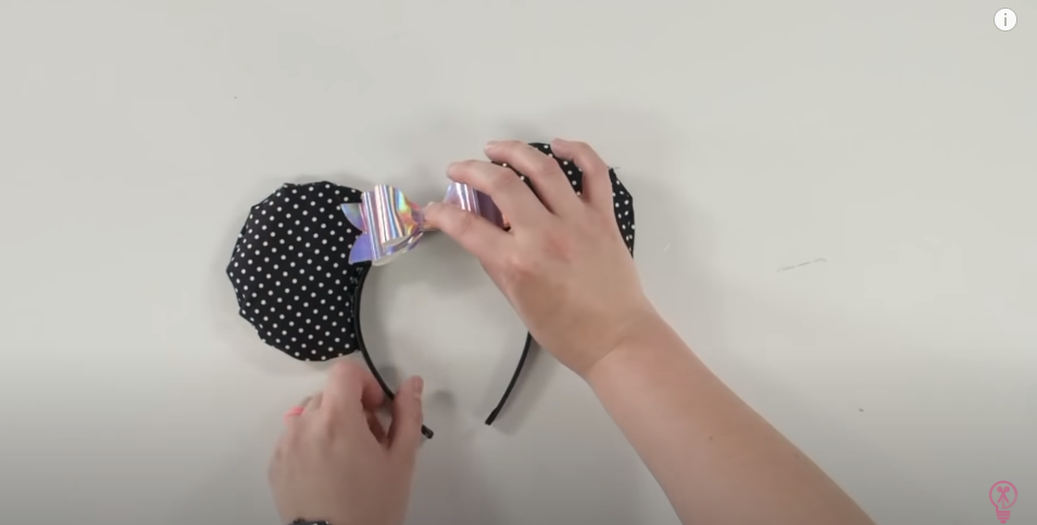 Assemble The Mouse Ears Headband Using Hot Glue To Secure It