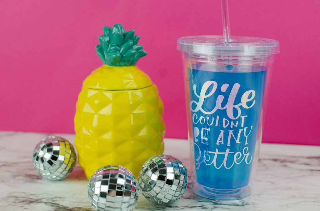 Diy Quote Tumbler Made With Vinyl
