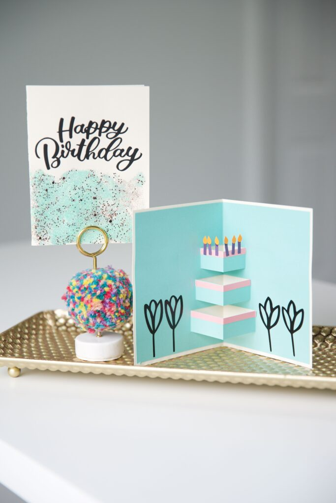 Birthday Card made with Cricut Explore 3 and Cricut Smart Materials