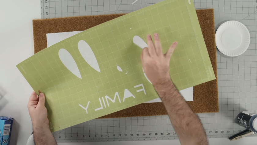 Grab The Centers Of Each Letter From The Cutting Mat