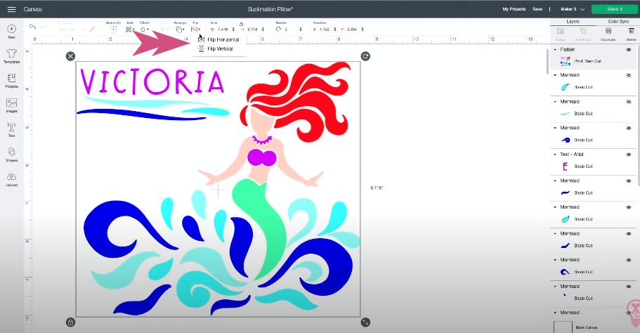 How To Flip Mermaid Design