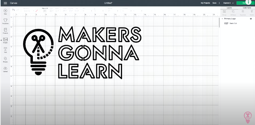 Makers Gonna Learn Logo In Cricut Design Space