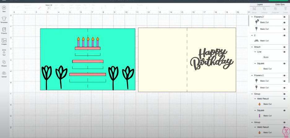 Making A Birthday Card In Cricut Design Space
