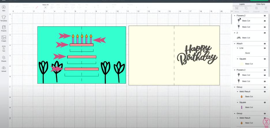 Using Basic Shapes To Create Rest Of Cake Design
