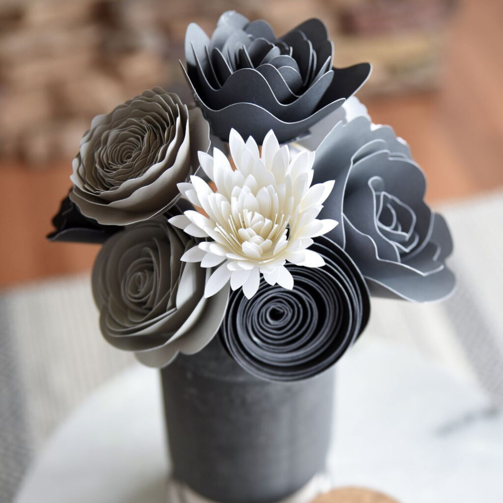 Paper Flowers Square