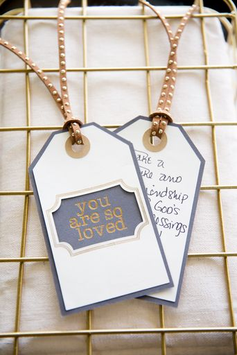 Tags Made With Foil Transfer