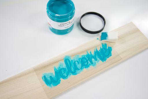 Cricut Stencil Welcome Sign