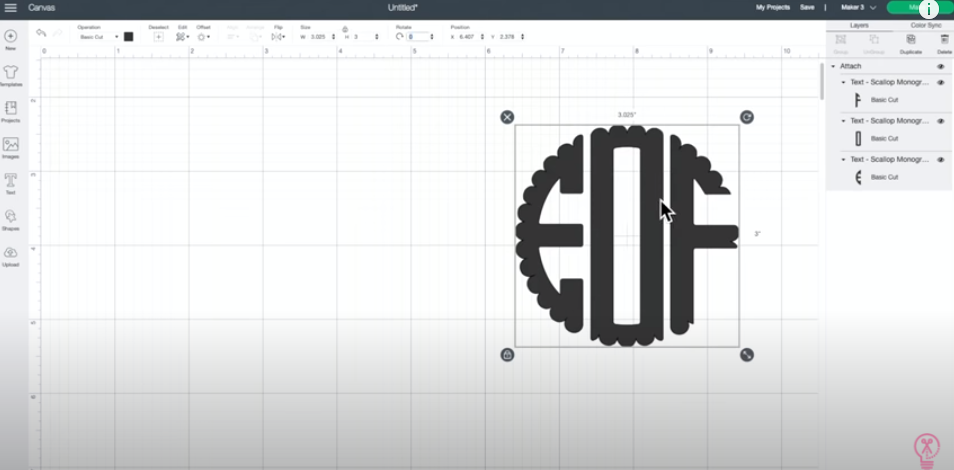 Group Or Attach Monogram And Then Size As Desired To Fit Tumbler