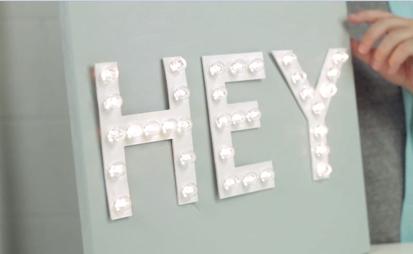 Marquee Letters Cut With Your Cricut
