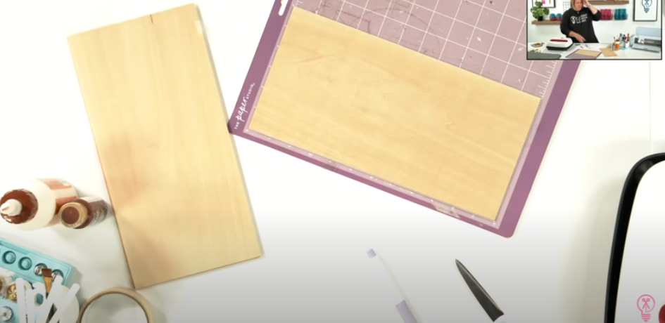 Place Basswood On Stronggrip Cutting Mat