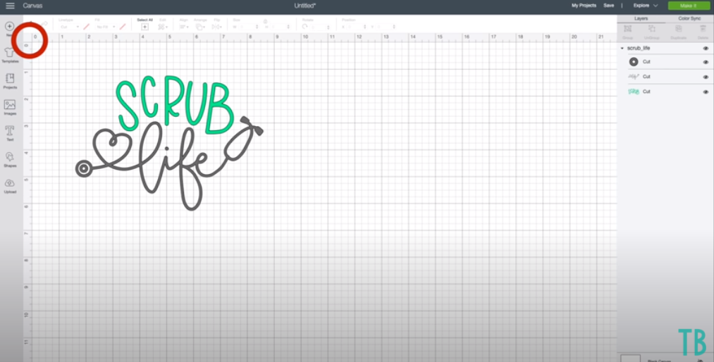 Showing Cricut Design Space And How To Remove Grid Lines