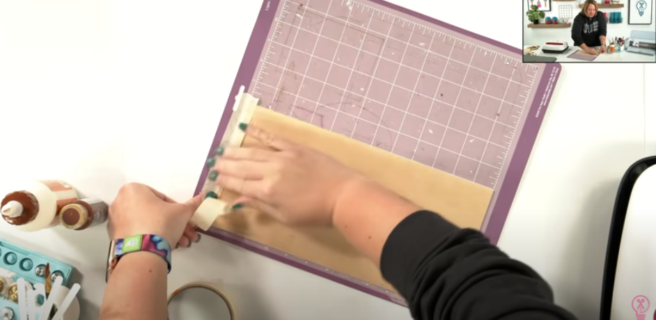 Tape Down Wood On Cutting Mat