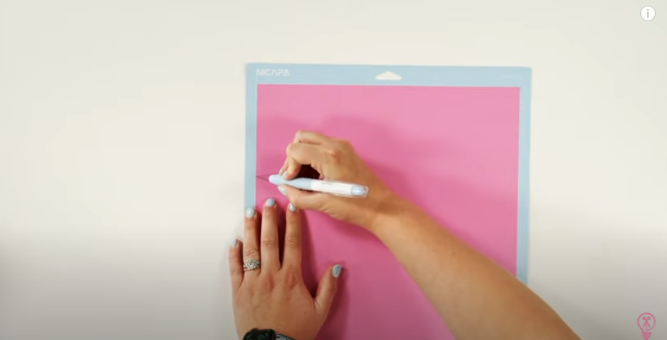 Use Your True Control Knife To Cut Away The Excess Vinyl