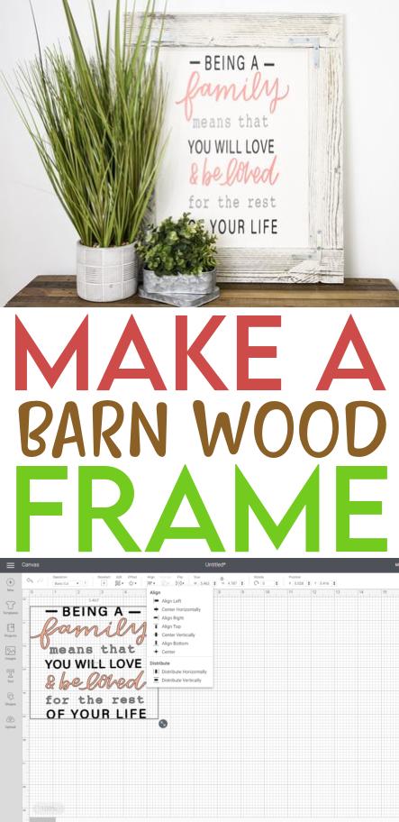 Make A Barn Wood Frame