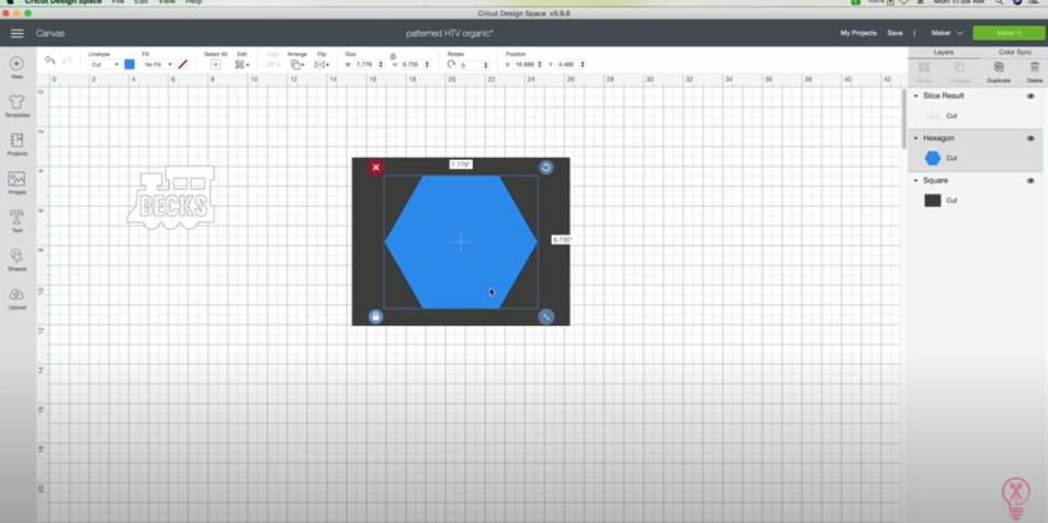 Adding A Hexagon For The Printable Vinyl