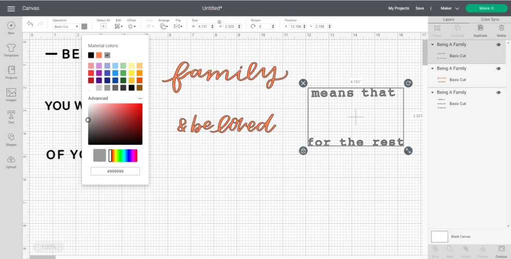 Change Colors Of Cut Files