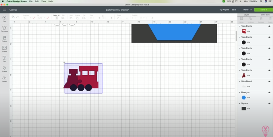 Select The Train Engine And Make It One Layer